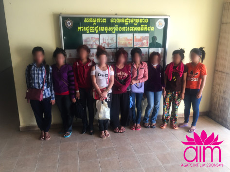 Rescued girls and women at AHTJP Headquarters