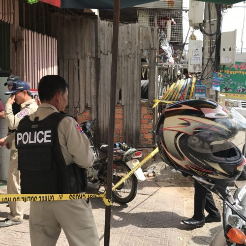 Phnom Penh Municipal Anti-Human Trafficking and Juvenile Protection Police Officers (AHTJP) worked with the AIM SWAT Team to raid a brothel posing as a coffee shop.